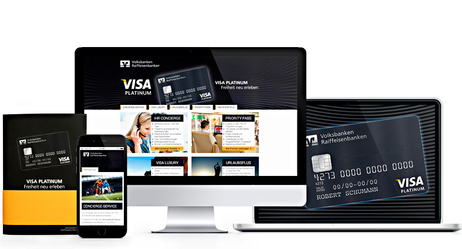 Internetagentur Department X | Referenz WGZ BANK, VISA PLATINUM